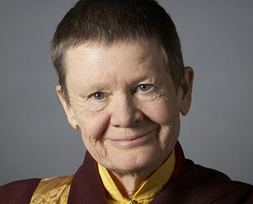 image of Pema Chodron face