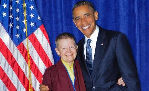 Ani Pema Chodron and President Barack Obama